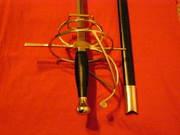 Коллекционная длинная рапира в испанском стиле,  нержавеющая сталь