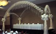 Оформление праздников шарами,  тканью,  цветами и многое др.
