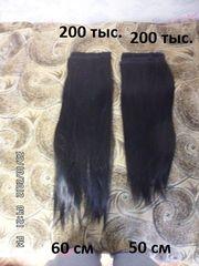 Продам пряди волос (чёрные,  50 и 60 см)