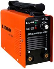 Сварочный аппарат инверторного типа (инвертор)  LIDER IGBT250 + подаро