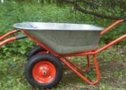 Тачка строительная Skiper 2x120 Expert (2 колеса,  250 кг.,  120 л.)