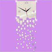 часы кварцевые настенные материал зеркальный акрил