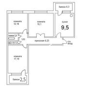 продается 3-х комнатная квартира в Гомеле Волотове
