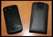 Кожаный черный чехол-книжка для ZTE V790,  б/у