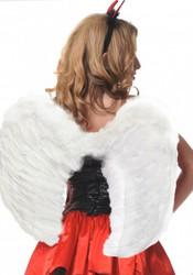 Крылья ангела перьевые 60х50см белые