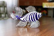 Рыбка из синего стекла. 25 рублей. Состояние отличное.